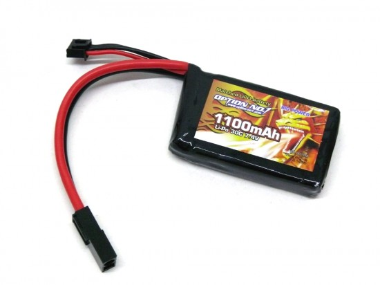 [OPTION NO.1] マッチドLiPOバッテリー BIG POWER 7.4V 1100mAh GB-0028M (新品)