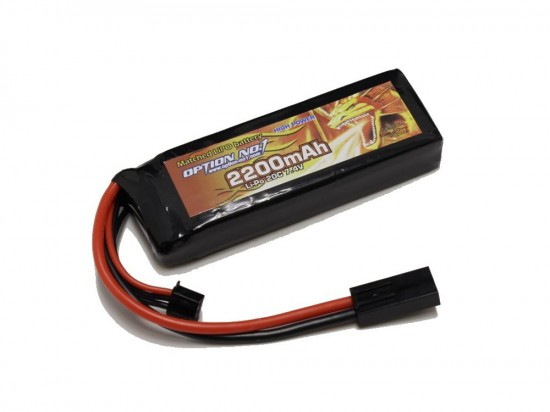 [OPTION NO.1] マッチドLiPOバッテリー HIGH POWER 7.4V 2200mAh GB-0012M (新品)