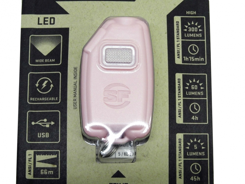 [SUREFIRE] Sidekick Ultra-Compact Variable-Output LED Flashlight PINK ピンク (未使用)