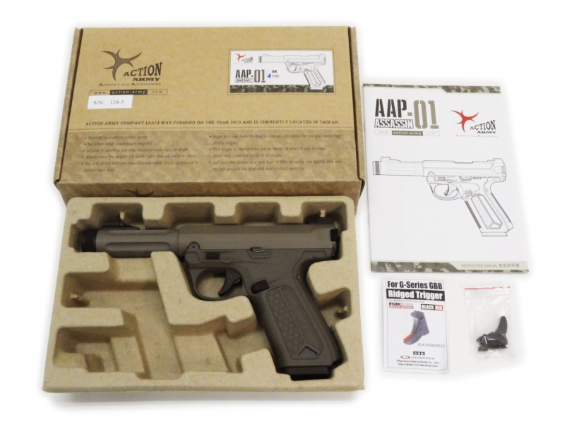 [ACTION ARMY] AAP-01 アサシン ガスブローバック FDE トリガーカスタム (中古)