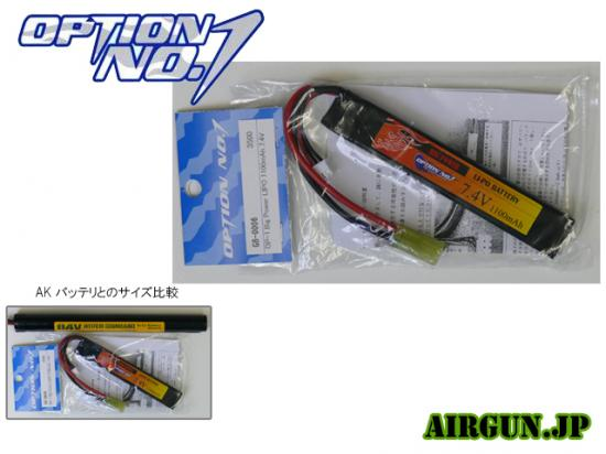[OPTION NO.1] 7.4V 1100mAh BIG POWER LIPO GB-0006V2 (新品)