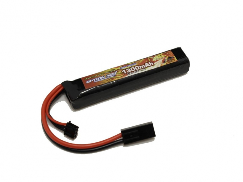 [OPTION NO.1] マッチドLiPOバッテリー HIGH POWER 7.4V 1300mAh GB-0041M (新品)