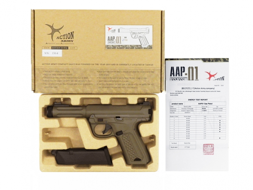 [ACTION ARMY] AAP-01 アサシン ガスブローバック FDE 日本仕様 【3次ロット】 (新品予約受付中!)