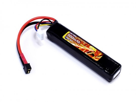 [OPTION NO.1] 11.1V 900mAh HIGH POWER LIPO GB-0036 (TOP M4/ミニ2Pコネクター) (新品)