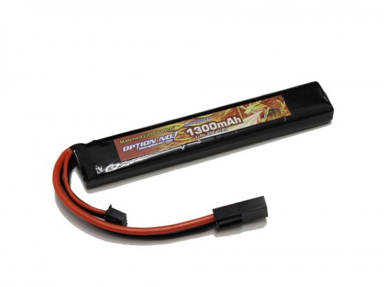 [OPTION NO.1] マッチドLiPOバッテリー HIGH POWER 7.4V 1300mAh GB-0013M (新品)