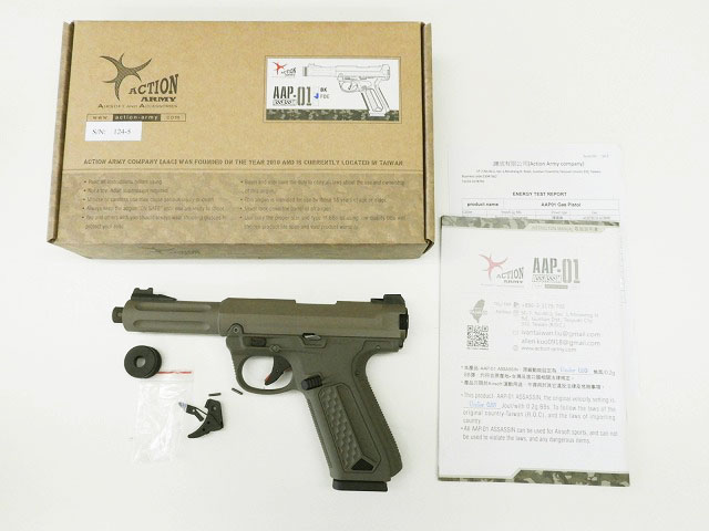 [ACTION ARMY] AAP-01 アサシン ガスブローバック FDE トリガーREDカスタム (中古)