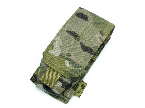 [FLYYE] MOLLE Single Smoke/Flash Grenade Pouch MC (中古)