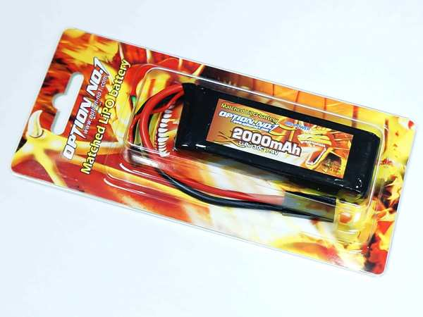 [OPTION NO.1] 7.4V 2000mAh BIG POWER LiPo GB-0010M (新品)